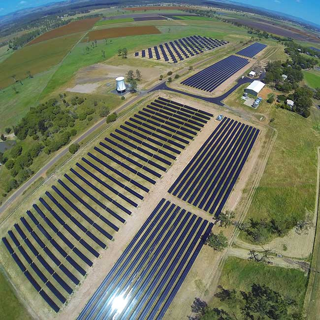 UQ solar farm at Gatton